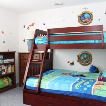Bunk Bed with Trundle Flat-Screen HDTV HD Cable-TV Xbox-360 WiiMovies Board Games Books