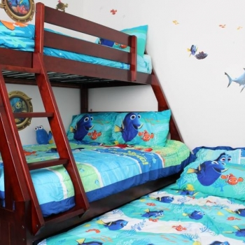 Trundle Bed Hides Away During the Day and is Easy to Take Out at Night When Needed