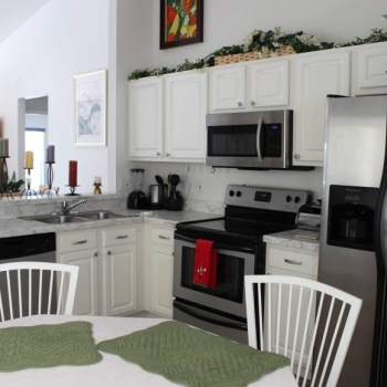 Kitchen Opens Up to the Living and Dining Rooms